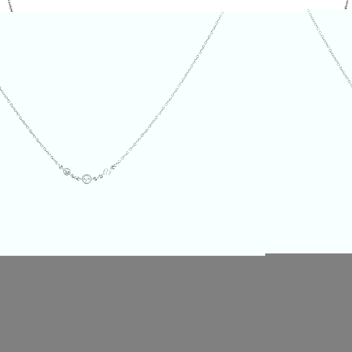 14k White Gold Diamonds By The Yard Necklace