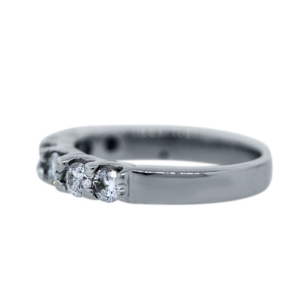 18k white gold wedding band ring boca raton