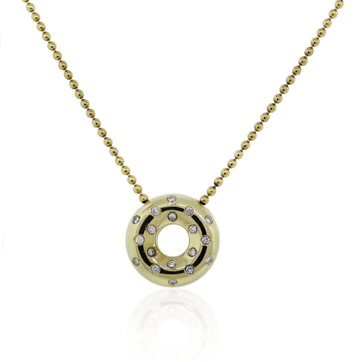 Yellow Gold Diamond Pendant Necklace