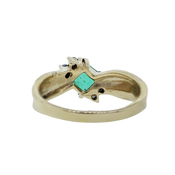Emerald and Diamond Accented Ring