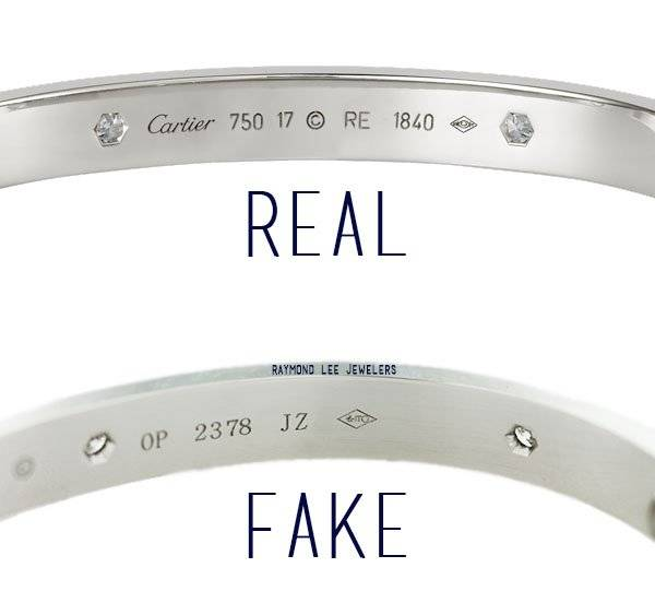Authentic Cartier Love bangle vs. fake: how to spot a fake white gold Love bangle