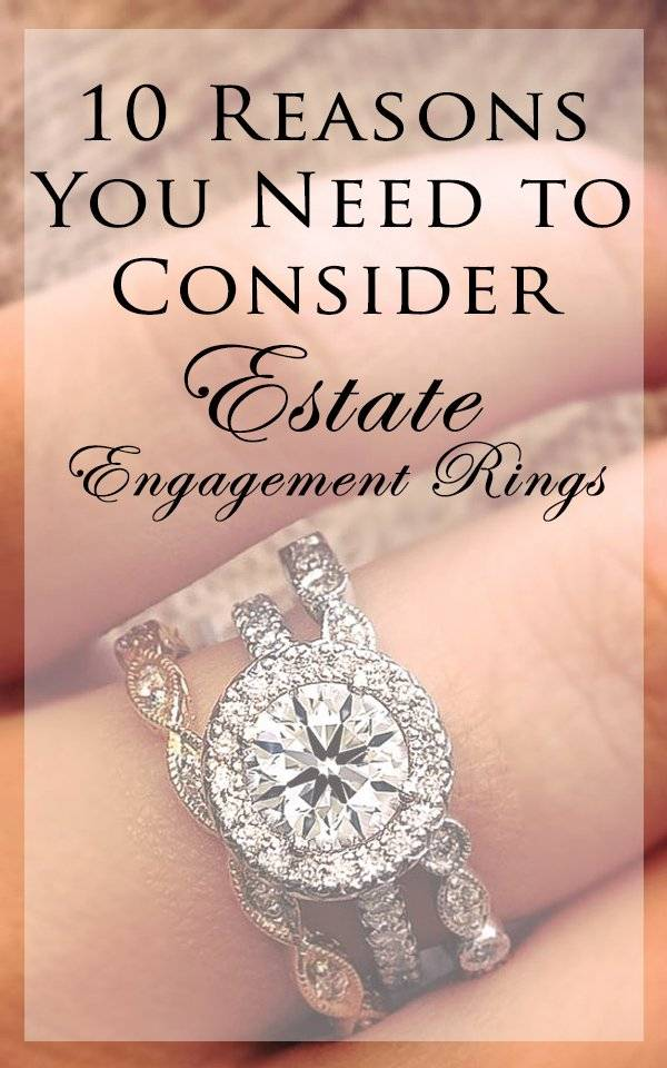 Estate Engagement Rings by Raymond Lee Jewelers
