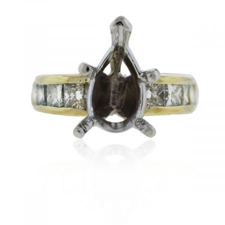 Diamond and Yellow Gold Ring Mounting