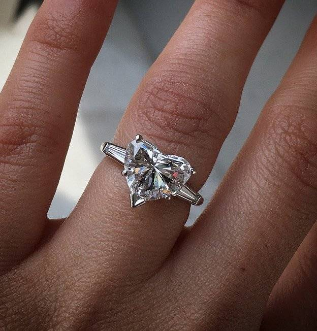 Looking for something unique, like this heart shaped diamond engagement ring? Shopping online estate jewelers is an easy way to find the perfect ring!