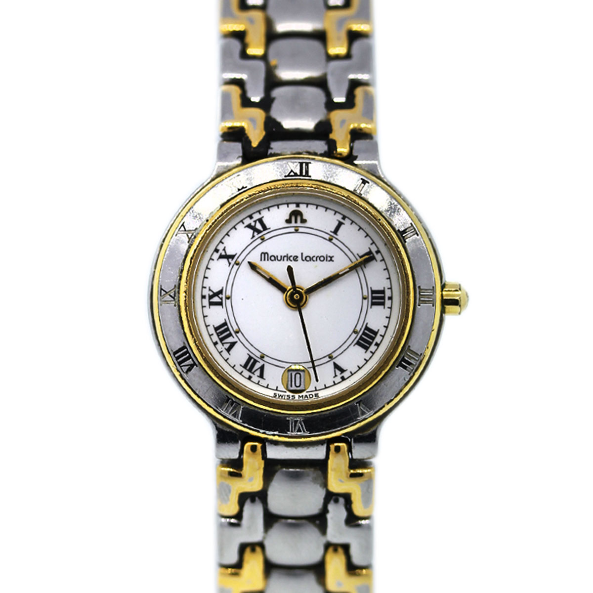 Maurice Lacroix Ladies Two Tone Stainless Steel Plated Watch