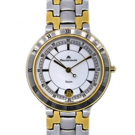 Maurice Lacroix Mens Two Tone Stainless Steel Plated Watch