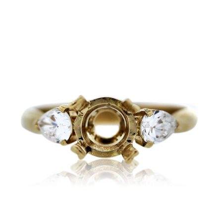 Yellow Gold Enagagement Ring Mounting