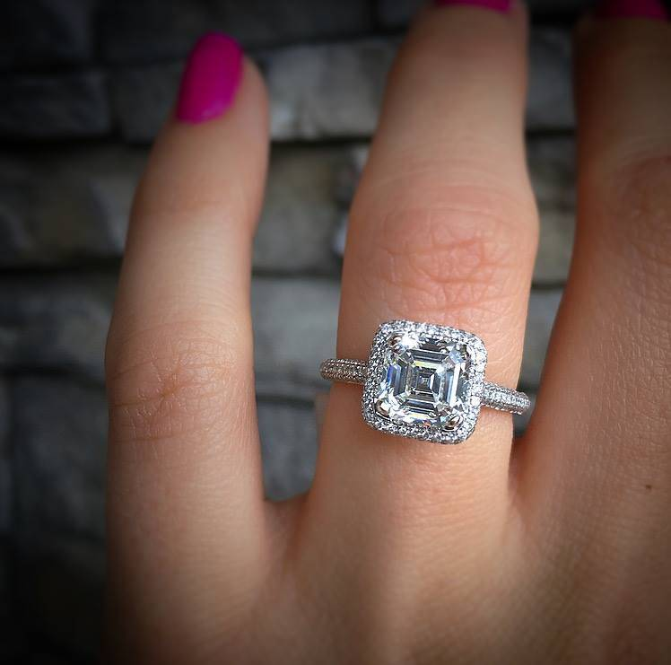 Pre Owned Asscher Cut Engagement Ring - Unless you spill the beans, who\'s  to tell