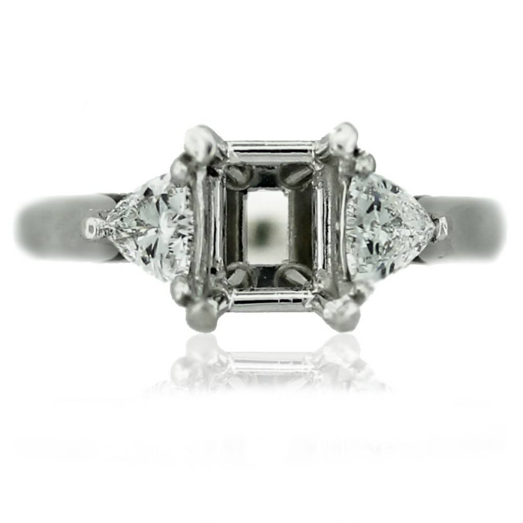 platinum trillion cut diamond engagement ring mounting. Black Bedroom Furniture Sets. Home Design Ideas
