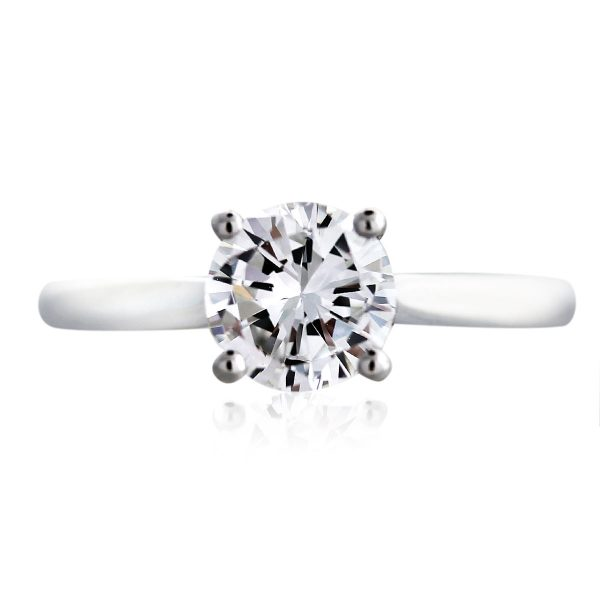 Platinum GIA Certified 1ct Diamond Solitaire Engagement Ring