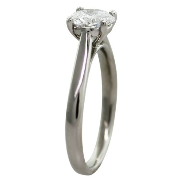 Platinum GIA Certified 1ct Diamond Solitaire Engagement Ring side