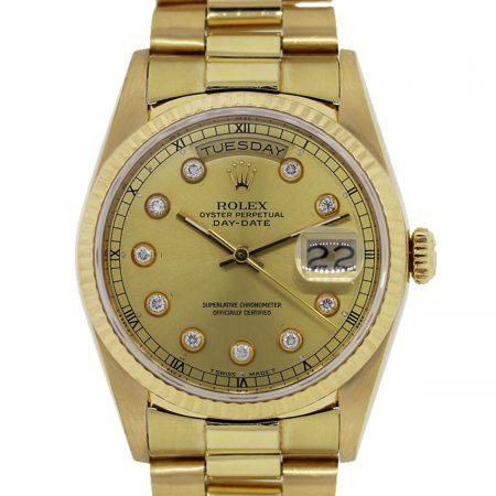 18k Yellow Gold Rolex Day-Date Watch