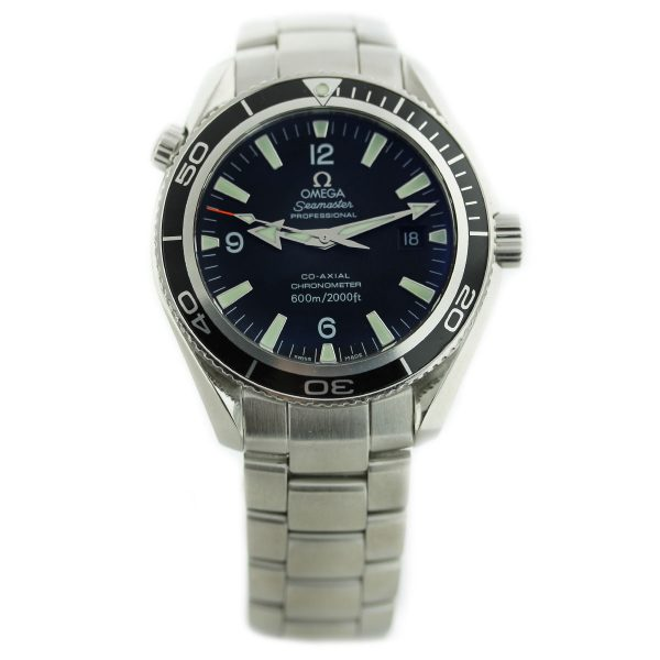 Omega Professional Seamaster Planet Ocean Stainless Steel Watch Black Dial