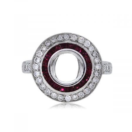 Ruby and Diamond Ring Setting