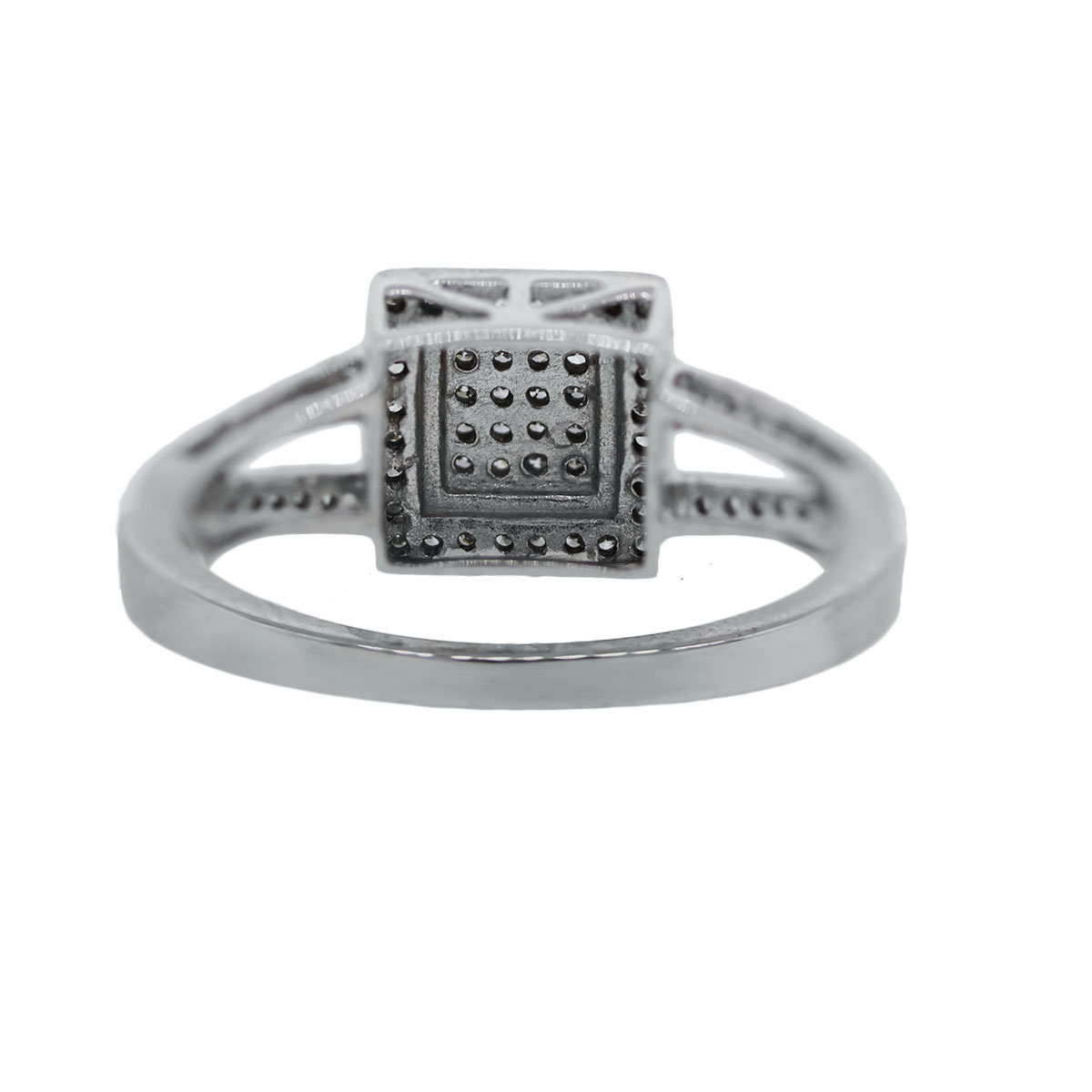 White Gold Cocktail Ring