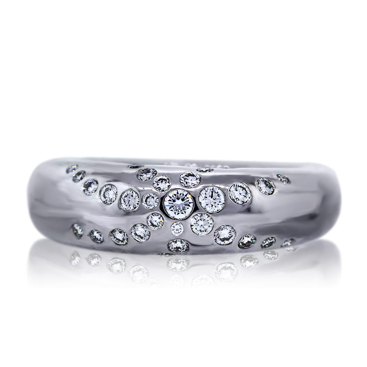 18k White Gold Diamond Chaumet Cocktail Ring