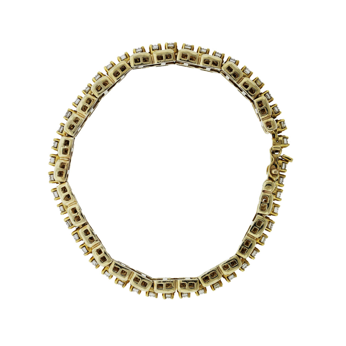 14k yellow gold diamond tennis bracelet with tennis. Black Bedroom Furniture Sets. Home Design Ideas