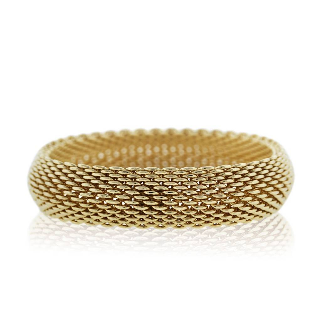 def2f0a6c Tiffany & Co. 18k Yellow Gold Somerset Mesh Bangle Bracelet