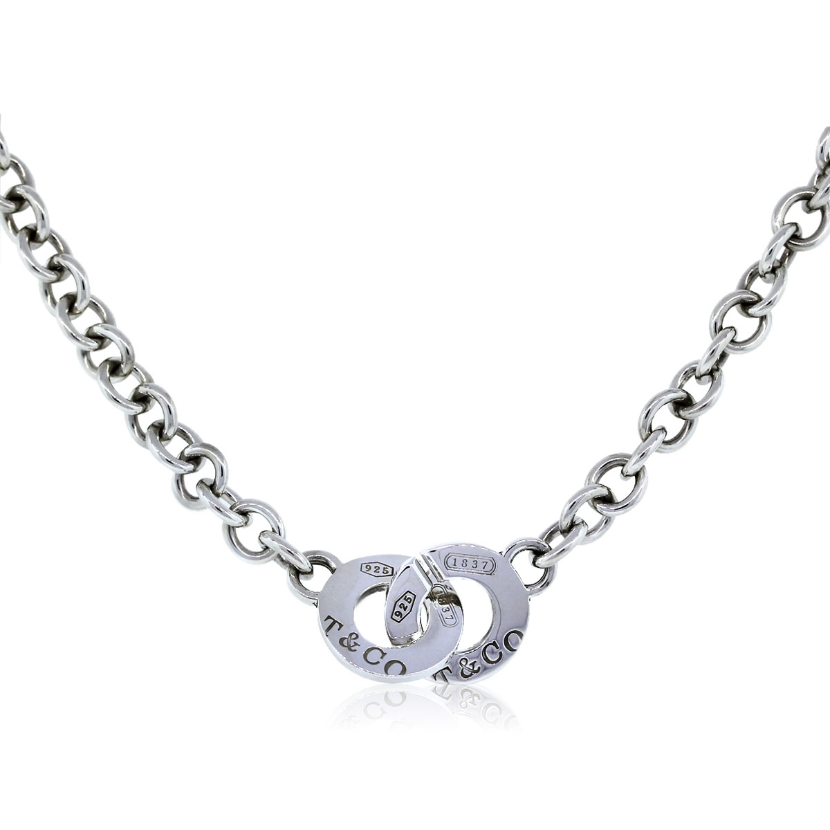 tiffany co sterling silver 1837 toggle chain necklace. Black Bedroom Furniture Sets. Home Design Ideas