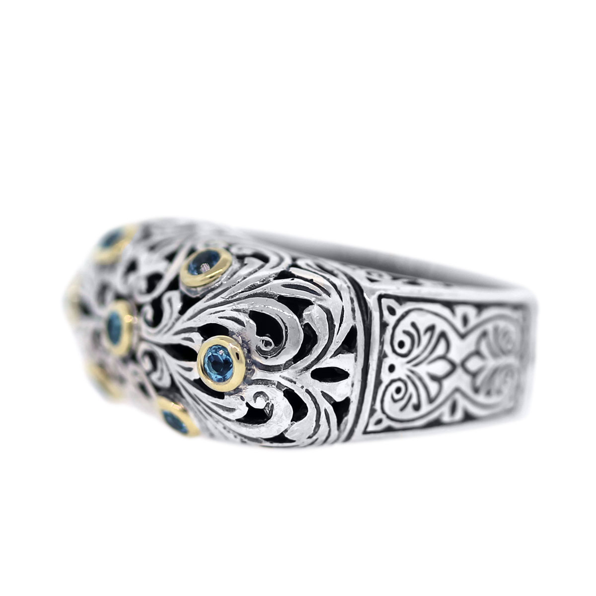 Sterling Silver and Gold Konstantino Ring