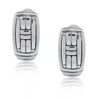 John Hardy Woven Style Earrings Sterling Silver