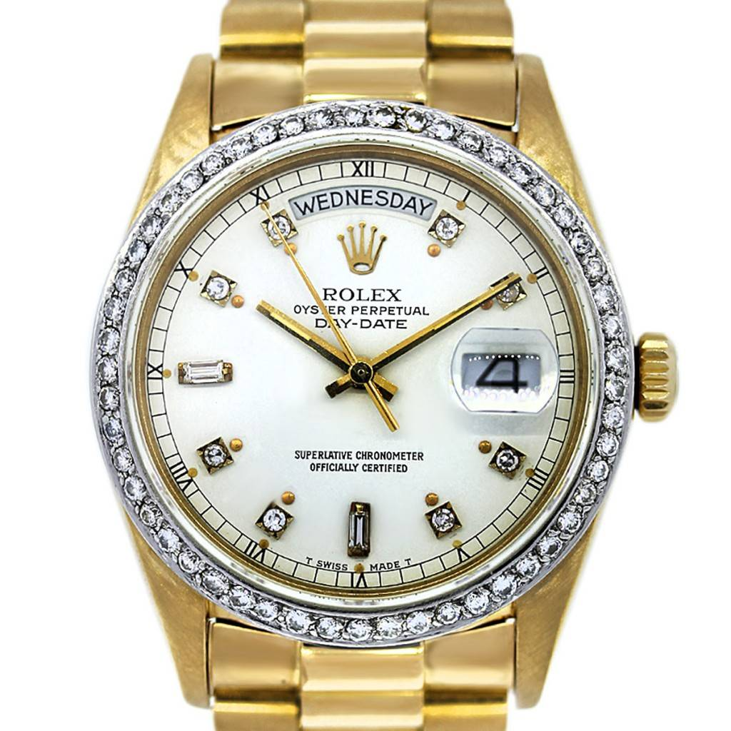 Rolex President 18038 Gold Single Quick Aftermarket ...