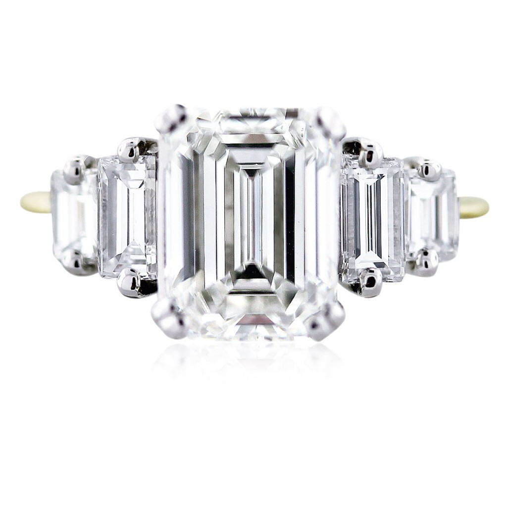 3 carat emerald cut diamond engagement ring gia certified. Black Bedroom Furniture Sets. Home Design Ideas