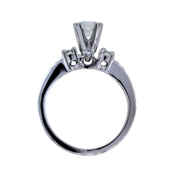 0.54 carat solitaire with accent diamond ring