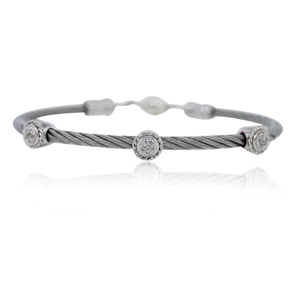 Sterling Silver Circle Cable Bracelet
