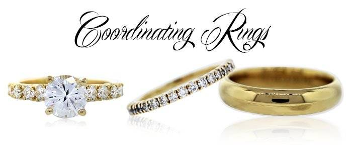 coordinating wedding rings - Wedding Ring Trios