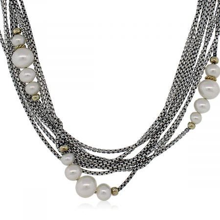David Yurman Pearl Multi-Strand Necklace