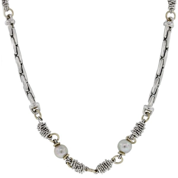 Michael Dawkins Sterling Silver Pearl Necklace full