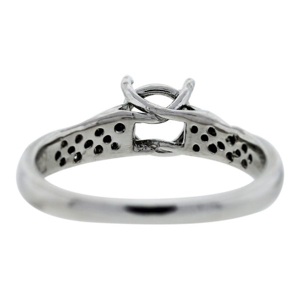 Platinum and Diamond Engagement Ring Mounting