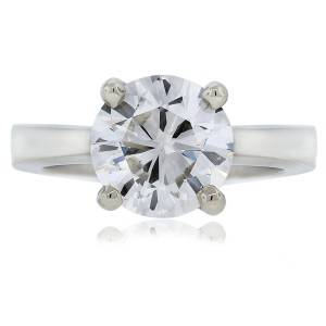 Gorgeous 14kt white gold 3.01 carat round brilliant diamond solitaire engagement ring for $37,995