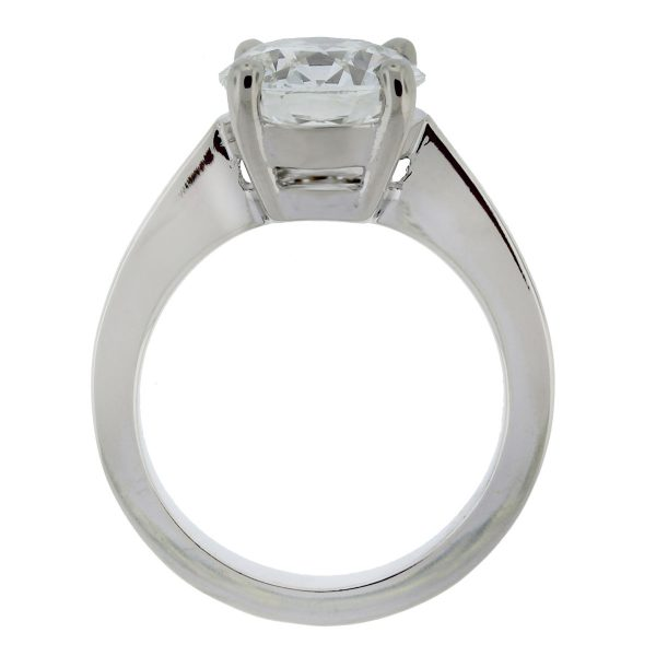 14k White Gold 3.01ct Round Brilliant Solitaire Engagement Ring full