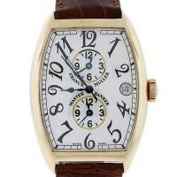 Franck Muller Master Banker 6850mb Yellow Gold Watch on Leather