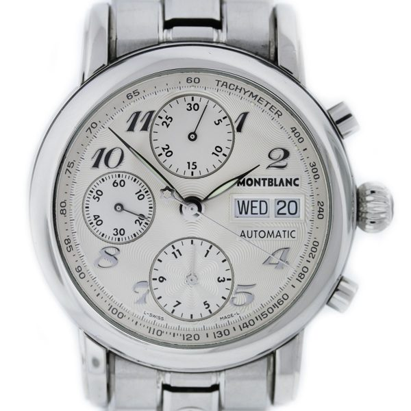 Mont Blanc Meisterstruck 7016 Stainless Steel Chronograph Watch
