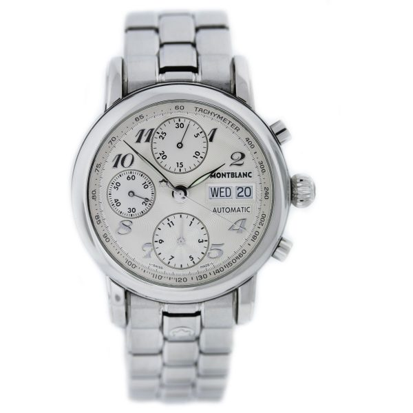 Mont Blanc Meisterstruck 7016 Stainless Steel Chronograph Watch full