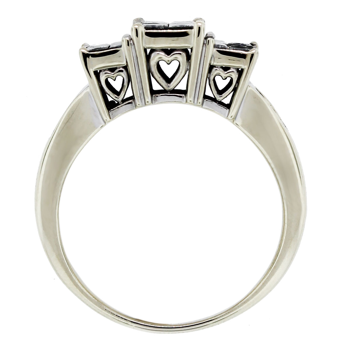 Heart Accent Engagement Ring Top