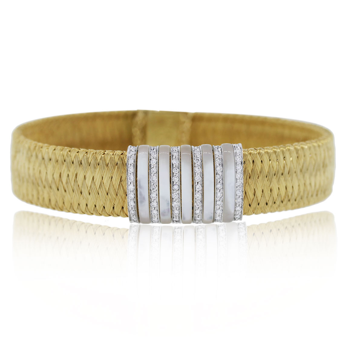 roberto coin jewelry Yellow Gold Diamdon Braclet