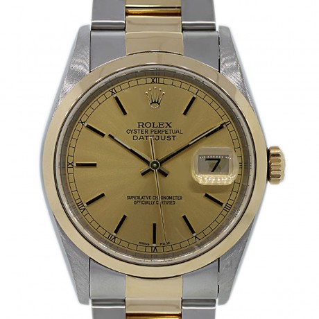 Rolex Datejust 16203 Two Tone Champagne Dial Watch