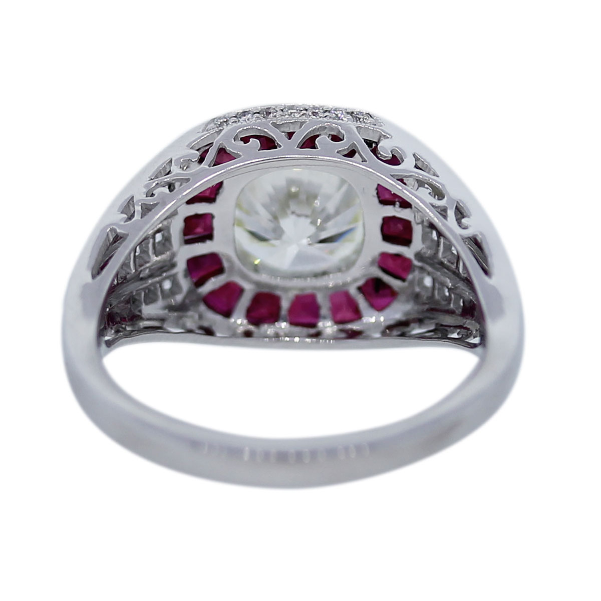 platinum certified 2 19ct and ruby