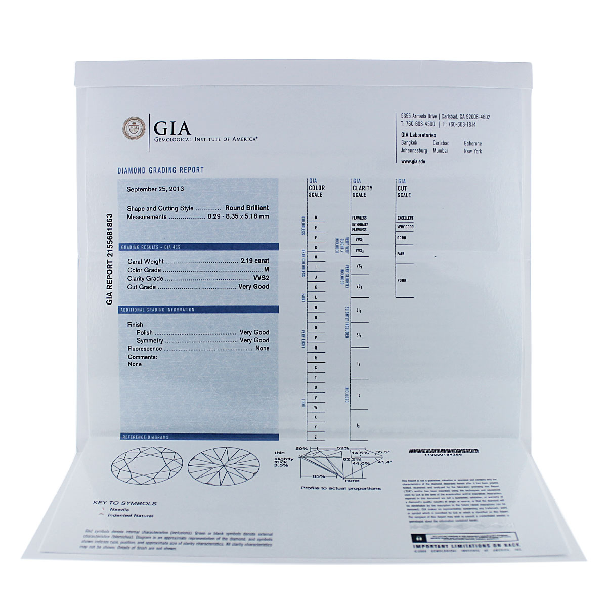 GIA Ruby and Diamond Certificate