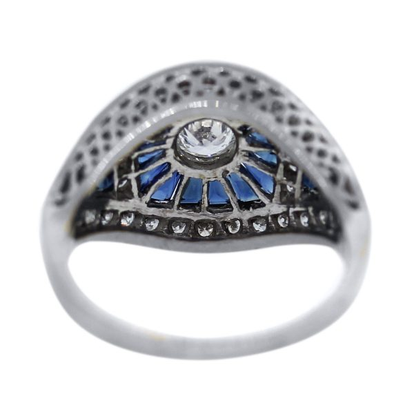 18k White Gold Sapphire Cocktail Ring