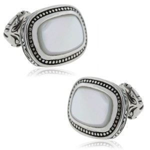 Scott Kay Riveted Mother of Pearl Cuff Links