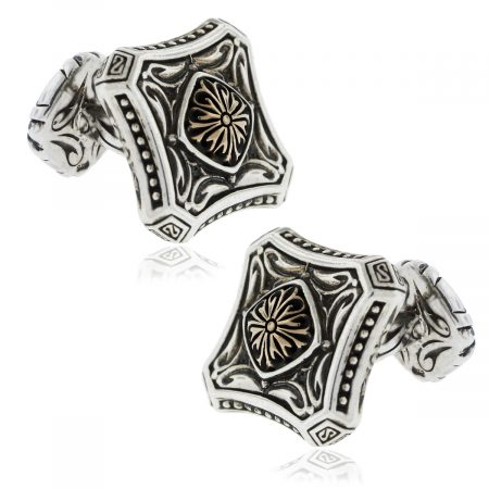 Scott Kay 18k Gold Sterling Silver cufflinks