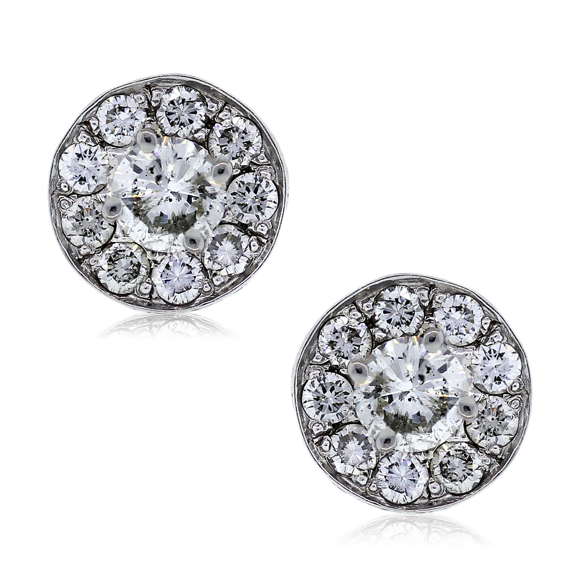 Diamond Stud Earrings w/ Earrings Jackets