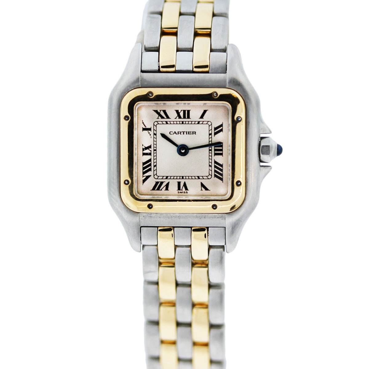 vintage cartier panthere 1120 two tone ladies quartz watch