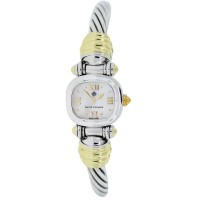 David Yurman 14kt Two Tone Mother of Pearl Cable Watch
