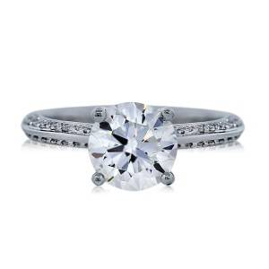 GIA Certified 1.18ct Round Brilliant Diamond Engagement Ring